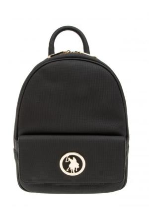 U.S. Polo Assn. Siyah Bayan Sırt Çantası Us9000
