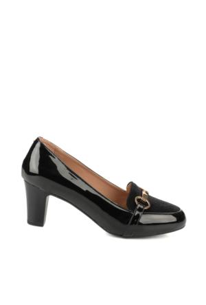 Bambi Kadın Siyah Tay S.Rugan Ayakkabı