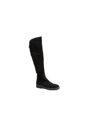 Cabani Knee High Boots Günlük Kadın Çizme Siyah Süet
