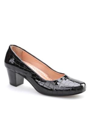 Cabani Comfort Kadın Ayakkabı Siyah Croco Deri