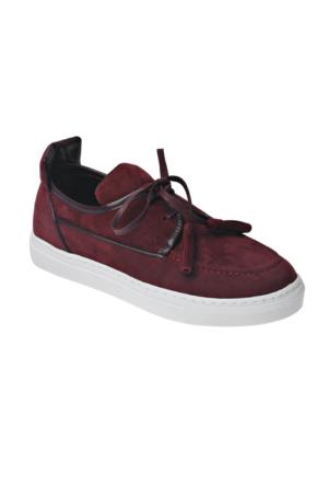 Ayakkabı - Bordo Fiyonklu - Zenneshoes