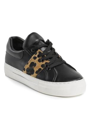Ayakkabı - Siyah Leopar - Zenneshoes