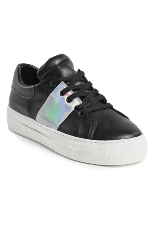Ayakkabı - Siyah Gümüş - Zenneshoes