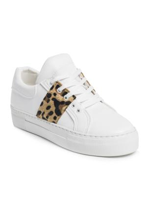 Ayakkabı - Beyaz Leopar - Zenneshoes