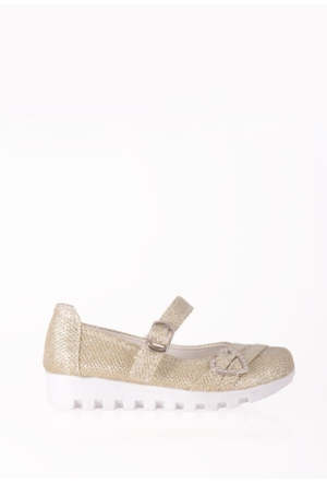 Erbilden Papi Dore Simli Tokalı, Kemerli Çocuk Babet Ayakkabı