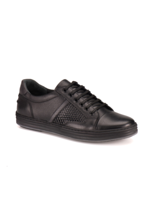 Forester 8458 M 1453 Siyah Erkek Deri Sneaker