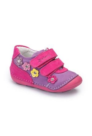 Polaris 62.506504.I Mor Kız Çocuk Deri Ayakkabı