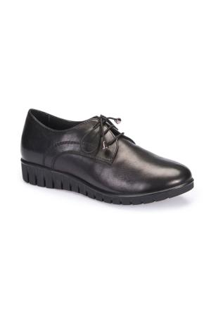Polaris 5 Nokta 62.109126.Z Siyah Kadın Deri Ayakkabı