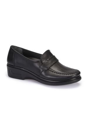 Polaris 5 Nokta 62.109043.Z Siyah Kadın Deri Ayakkabı