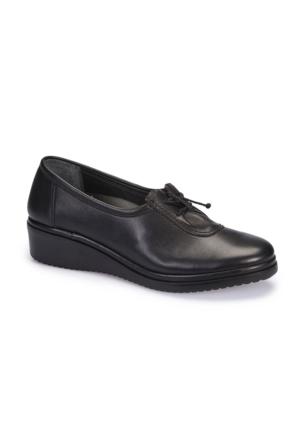 Polaris 5 Nokta 62.109084.Z Siyah Kadın Deri Ayakkabı