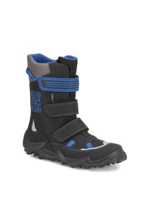 Superfit 3-00071-02 G. Siyah Mavi Erkek Çocuk Süet Deri Çizme