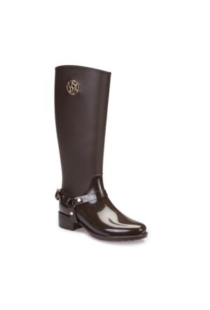 U.S. Polo Assn. A3376457 Kahverengi Kadın Yağmur Çizmesi
