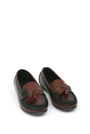 Zerrin Ayakkabı Bordo Püsküllü Bayan Ayakkabı 112993