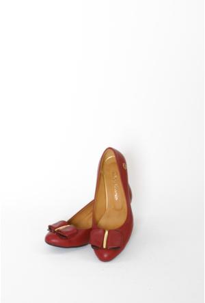 İlker Kundura Bordo Klasik Bayan Ayakkabı 421