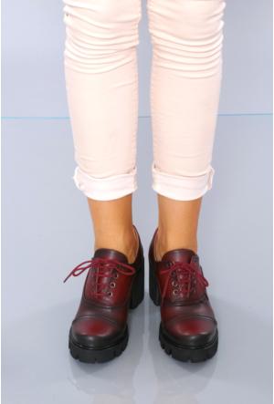Park Moda Bordo Günlük Bayan Ayakkabı 315