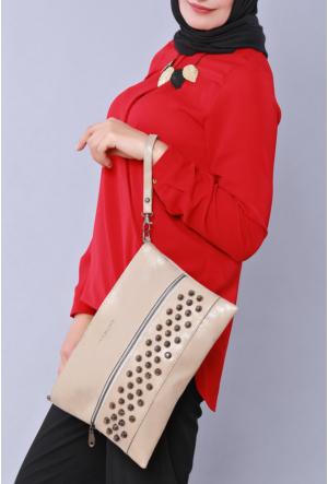Güzel Çanta Bej Gıvenchy Bayan El Çantası 211