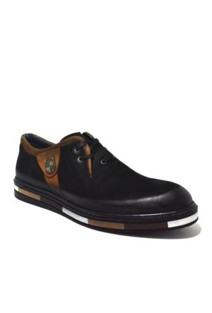 Dropland Hakiki Deri Günlük Siyah Yüksek Taban Erkek Ayakkabısı