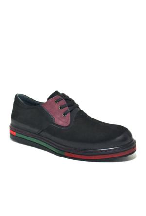 Dropland Hakiki Deri Siyah Nubuk Yüksek Taban Erkek Ayakkabısı