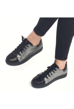 Mio Gusto Mio Gusto - Gümüş Deri Spor Ayakkabı