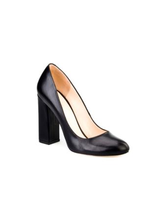 Cabani Günlük Kadın Ayakkabı Siyah Analin Deri