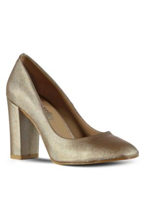 Marjin Elice Topuklu Ayakkabı Altın