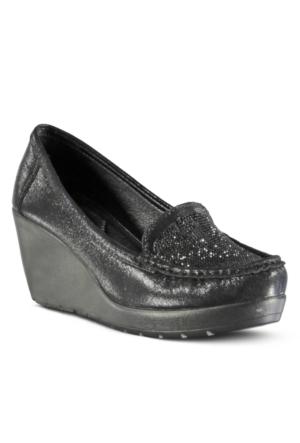 Marjin Osar Dolgu Ayakkabı Siyah