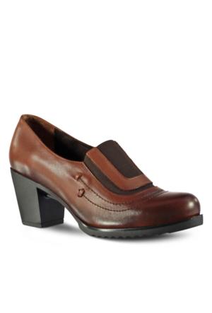 Marjin Linter Deri Topuklu Ayakkabı Taba