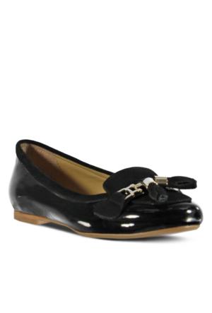 Marjin Tedera Düz Ayakkabı Siyah Rugan