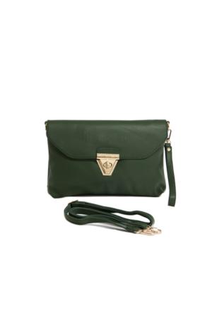David Jones Kadın Clutch Çanta Yeşil