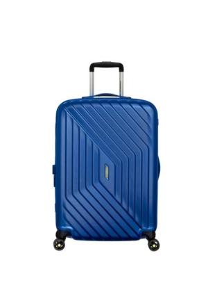 American Tourister Air Force 1 - 66 Cm Orta Boy Dört Tekerlekli Valiz insigna Blue