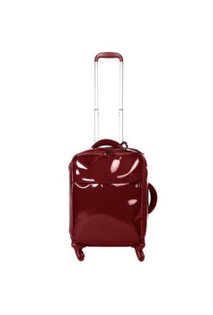 Lipault Plume Vinyle 55 Cm Kabin Boy Valiz Kırmızı