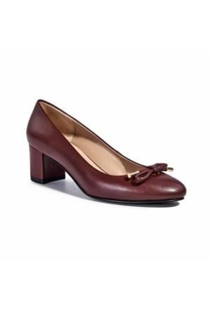 Desa Collection Kadın Klasik Deri Ayakkabı Bordo