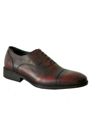 Mammamia 7035 Hakiki Deri Klasik Erkek Ayakkabı Bordo