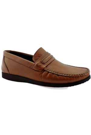 Mammamia D16Ya-7005 Ortopedik Tabanlı Deri Ayakkabı Taba
