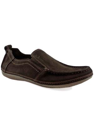 Mammamia D16Ya-7135 Ortopedik Tabanlı Deri Ayakkabı Kahverengi