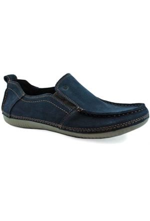 Mammamia D16Ya-7135 Ortopedik Tabanlı Deri Ayakkabı Lacivert