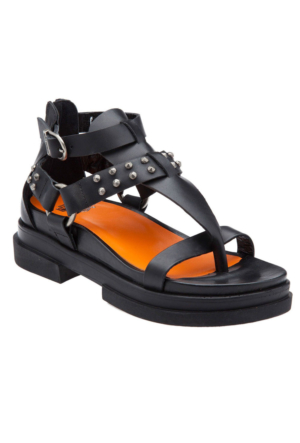 Harley Davidson Saltoro 021Z0483 Deri Kadın Sandalet Siyah