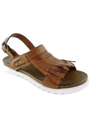 Green Life Foot 757 Kadın Deri Sandalet Taba
