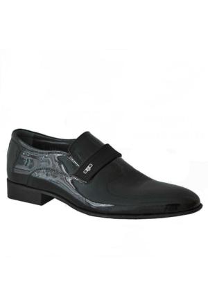 Marcomen 6824 Rugan Deri Klasik Erkek Ayakkabı Siyah