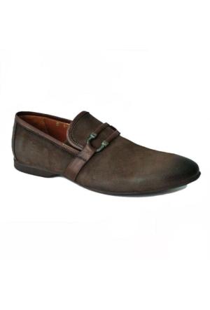 Marcomen 381 Nubuk Deri Tokalı Günlük Erkek Ayakkabı Kahverengi