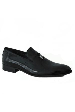 Marcomen 789 Hakiki Rugan Deri Klasik Erkek Ayakkabı Siyah