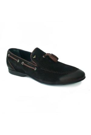 Marcomen 422 Nubuk Deri Erkek Ayakkabı Siyah
