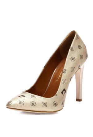 Pierre Cardin 32121 Sivri Burun Topuklu Kadın Ayakkabı Gold