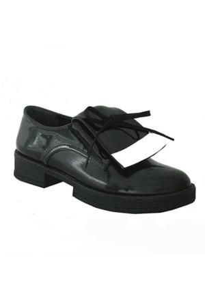 Meshure 7017 Günlük Kadın Ayakkabı Siyah Rugan