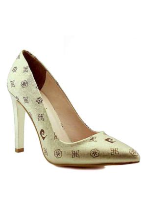 Pierre Cardin 45330 Sivri Burun Topuklu Kadın Ayakkabı Altın