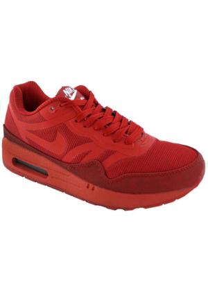 Nike Wmns Air Max 1 Cmft Prm Tape Spor Ayakkabı Kırmızı