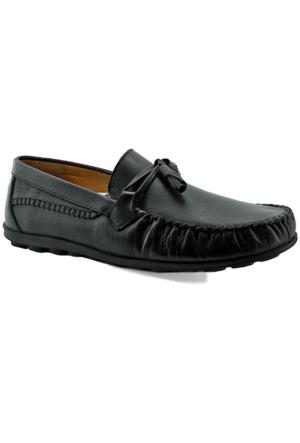 Fratelli 489 Deri Ortopedik Taban Erkek Ayakkabı Siyah