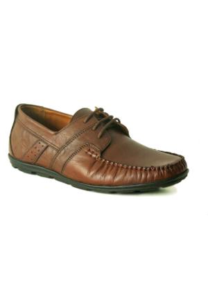 Fratelli 9105 Deri Ortopedik Taban Erkek Ayakkabı Kahverengi