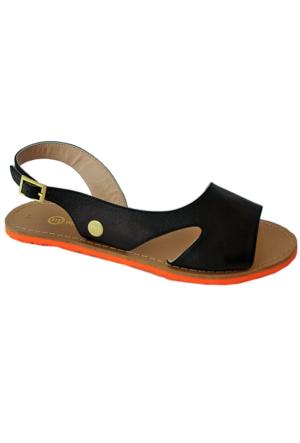 Mammamia D16Ys-1135 Deri Sandalet Siyah