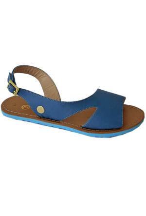 Mammamia D16Ys-1135 Deri Sandalet Mavi